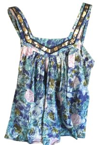 Rebecca Taylor Top Blue floral