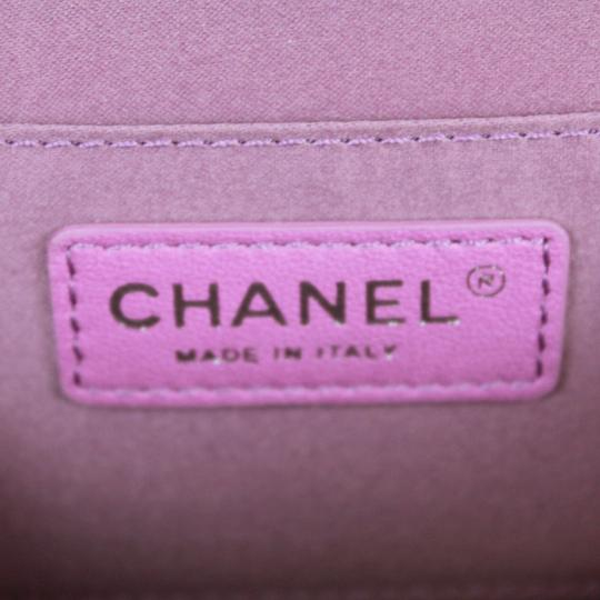Chanel Quilted Leather Patent Leather Small Cross Body Bag