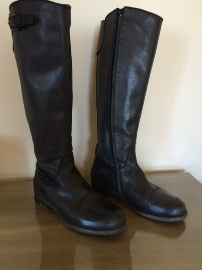 Henry Beguelin Leather Italian Black Boots Image 1