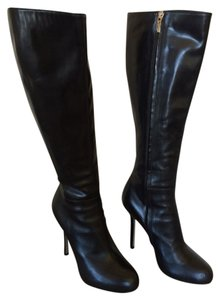 Sergio Rossi Leather Italian Black Boots