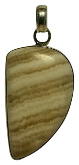 Other Agate Silver Pendant with Silver Chain Necklace Image 1