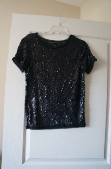 Preload https://item1.tradesy.com/images/zara-black-non-sparkling-sequin-night-out-top-size-8-m-5930-0-0.jpg?width=400&height=650