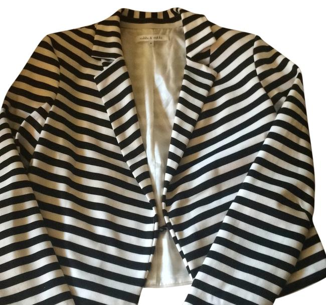 Robbi & Nikki by Robert Rodriguez Black and white Blazer