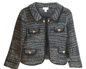 Ann Taylor LOFT Jacket Tweed Black and whiteTweed Blazer