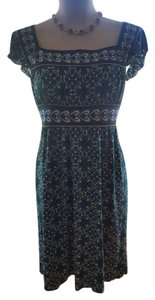 Max Studio short dress Teal Empire Waist Flutter Sleeve Print on Tradesy
