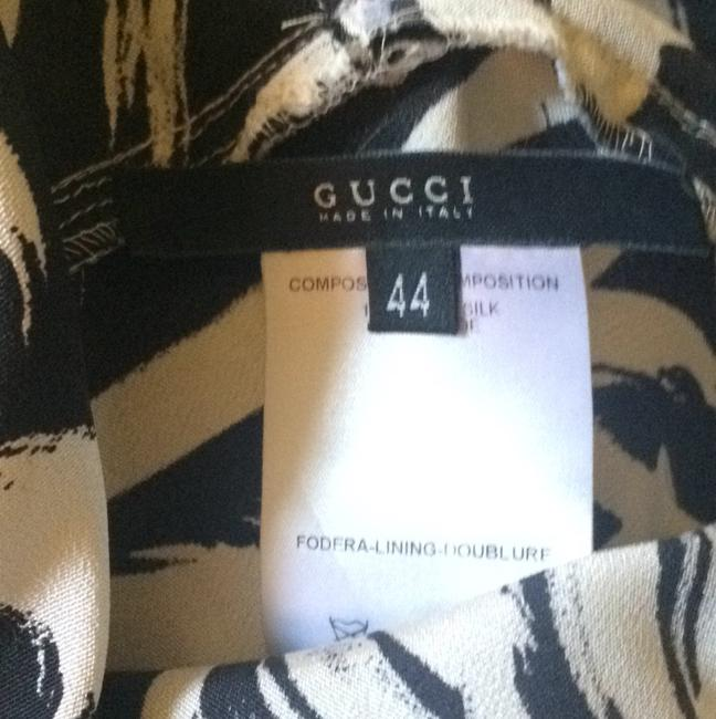 Gucci short dress Black/ creme on Tradesy