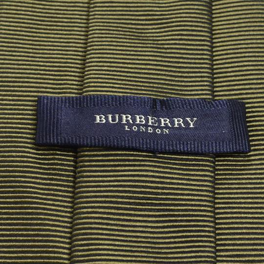 Burberry BURBERRY LONDON 58L Brown Horizontal Striped Silk Mens Neck Tie
