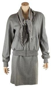 Moschino Moschino Cheap And Chic Grey Wool Skirt Suit, Size 10