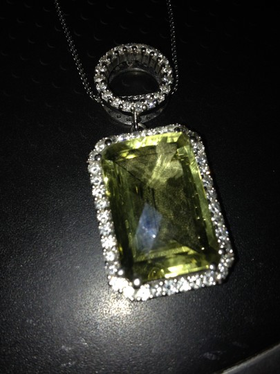 Other Custom made Citrine and diamond Necklace..