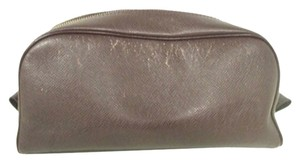 Louis Vuitton [2014] Louis Vuitton Taiga Brown Toiletries Cosmetic Pouch LVAV108