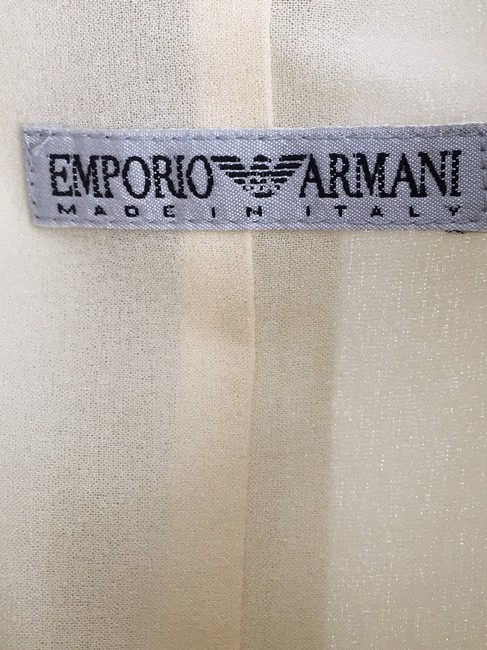Emporio Armani Button Front Classic Short Sleeves Day Dress