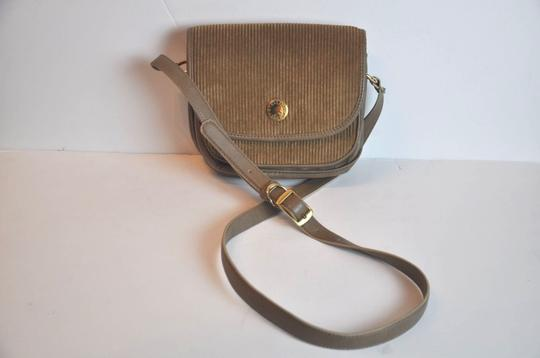 Stella McCartney Leather Courduroy Messinger Cross Body Bag