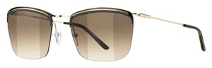 Balenciaga Balenciaga Gold Brown Gunmetal Frame, Brown Lens