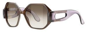 Balenciaga Balenciaga Transparent Brown & Violet Oval Full Rim Frame, Brown Lens