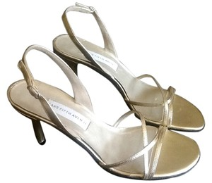 Saks Fifth Avenue Made In Italy Gold Sandals