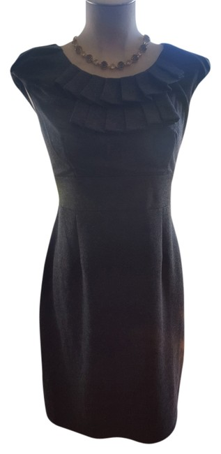 Preload https://item5.tradesy.com/images/heather-gray-ruffle-above-knee-workoffice-dress-size-8-m-5932084-0-0.jpg?width=400&height=650