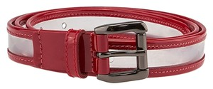 Burberry Burberry Clear & Red Patent Leather Belt (45737)