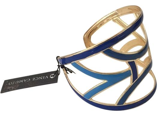 Preload https://item1.tradesy.com/images/vince-camuto-gold-and-blue-geometric-cuff-bracelet-5932180-0-0.jpg?width=440&height=440