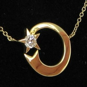 Hearts on Fire Hearts On Fire Illa Moon Star Diamond Pendant 0.21cts Necklace 18k Yg