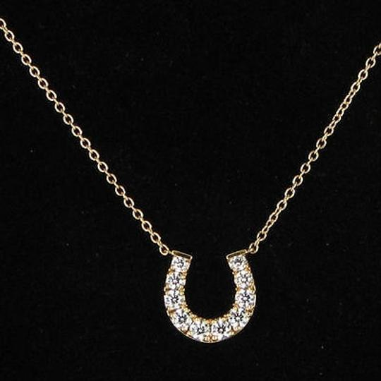 Hearts on Fire Hearts On Fire Horseshoe 18k Rose Gold Diamond 0.44cts Pendant Necklace