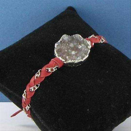 Other Nina Nguyen Cordelia Bracelet Red Round Brown Druzy Sterling Silver