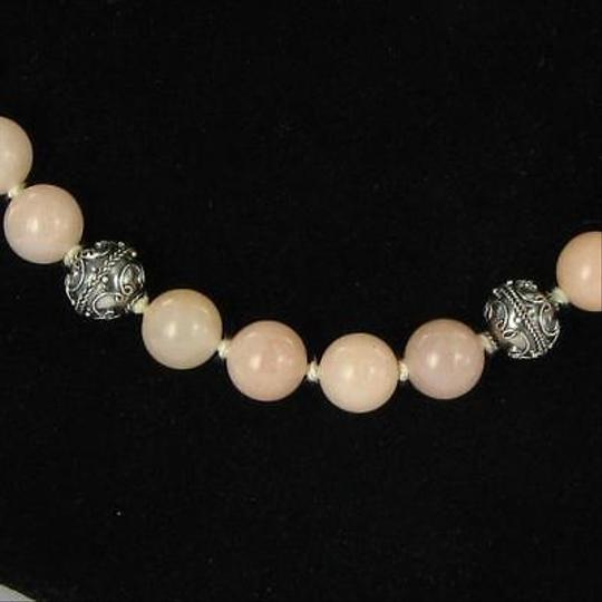 Other Nina Nguyen 10mm Peach Quartz Bead Necklace 18 Sterling Silver