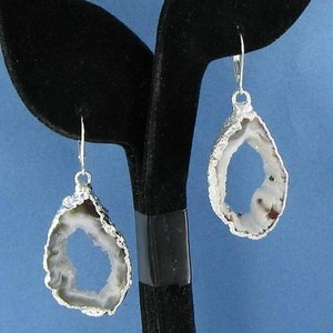 Other Nina Nguyen Venus Earrings White Gray Geode Drops Sterling Silver