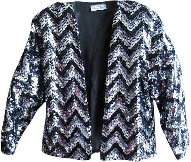 Preload https://item1.tradesy.com/images/vintage-black-silver-and-grey-sequin-cardigan-size-8-m-5933080-0-0.jpg?width=400&height=650