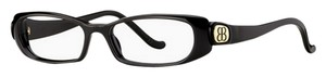 Balenciaga Balenciaga Black Rectangle Full Rim Frame, Clear Lens