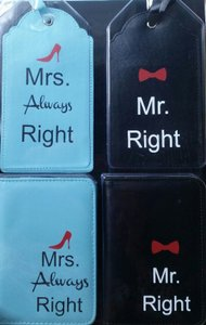 Mr. And Mrs. Luggage Tags And Passport Cases