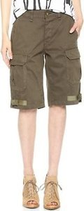 Rag & Bone Womens Radar Fatigue Military Casual 25 Cargo Shorts Green
