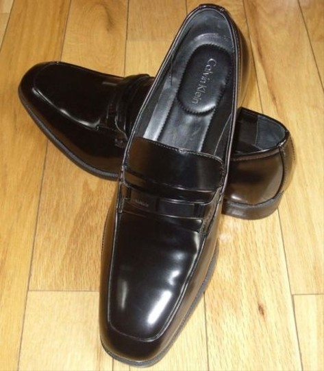 Calvin Klein Horace Men Black Patent Leather Slipon Loafer Casual Dress Shoes