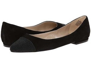 Nine West Solile Womens Suede Leather Ballet Black Flats