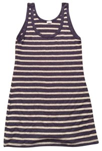 Splendid Top Silver and navy striped