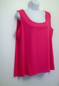 Talbots 2x Sleeveless Layering Stretch Top Pink