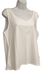 J. Jill Vneck Layering Top White