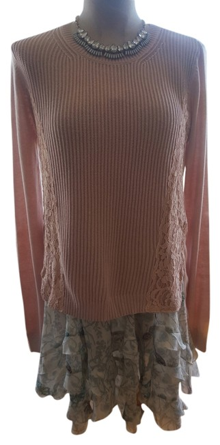 Ann Taylor Lace Trim Sweater