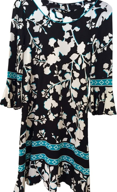 Preload https://item5.tradesy.com/images/bcbgmaxazria-black-white-and-turquoise-floral-sheath-above-knee-night-out-dress-size-2-xs-5934139-0-1.jpg?width=400&height=650