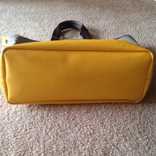 Coach Gray and yellow color block Travel Bag