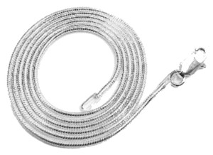 925 Italy 22 inch, 1mm Sterling Silver Italian Snake Chain Necklace