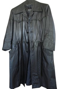 Eros Leather Full Length Trench Coat