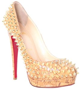 Christian Louboutin Gold, Beige Pumps