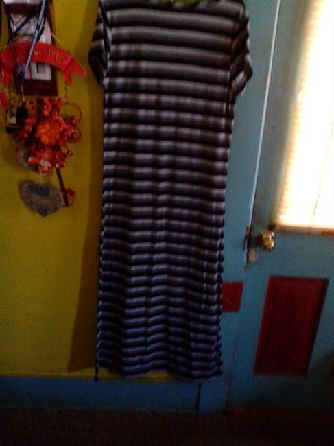 Gray,Black,And A Lighter Gray Maxi Dress by Bobbie Brooks