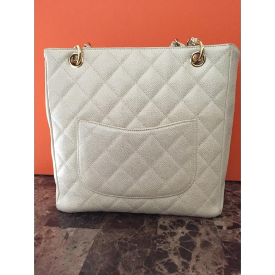 a254c87851e3 Chanel Shopping Pst Gst Petite Gold Caviar Shopping Beige Leather ...