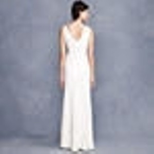 J.Crew Ivory Other Sophia Gown In Tricotine Casual Wedding Dress Size 16 (XL, Plus 0x)