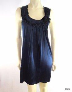 T-Bags Los Angeles short dress Blue Midnight Silk Stretch on Tradesy
