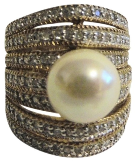 Real Collectibles by Adrienne Real Collectibles by Adrienne Multi-row Faux Pearl Dome Ring Size 8