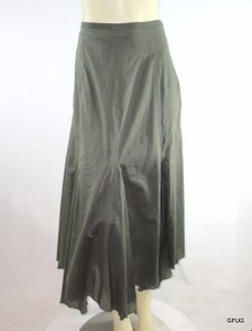 Sundance Olive Flared Gored Boho Gypsy Skirt Green
