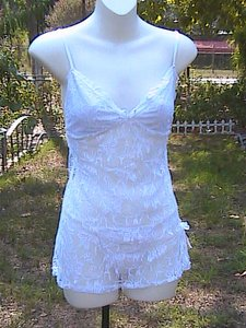 2 Pc White Lace Lingerie