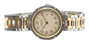 Hermès Authentic HERMES Clipper S/S and 18k gold Quartz 344031 UNISEX model With Date. Reduced $100.00